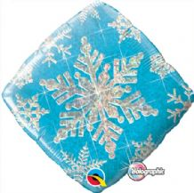 "Winter Foil Balloon - Blue Snowflake (18"") 1pc"